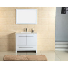 "Load image into Gallery viewer, Adornus Alexa Vanity, High Gloss White, 36""x18"""
