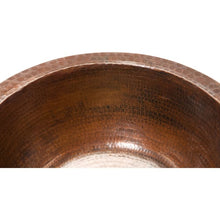"Load image into Gallery viewer, 14"" Round Hammered Copper Bar Sink w/ 2"" Drain Size"