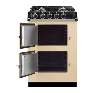 AGA City24 Dual Fuel Cast Iron Range with Gas Burners CLARET