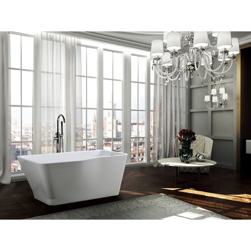 Florence 59 inch Freestanding Bathtub in Glossy White