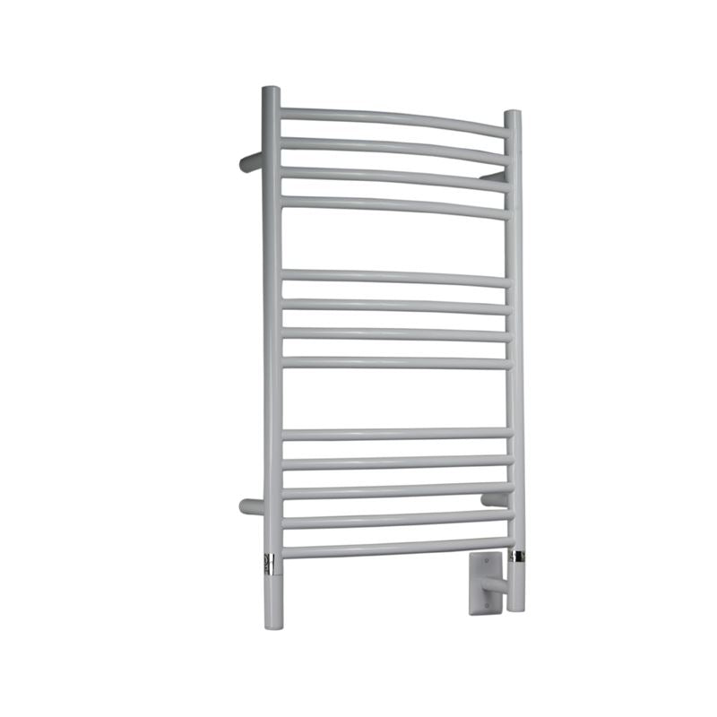 Amba C Curved 13 Bar Towel Warmer, White