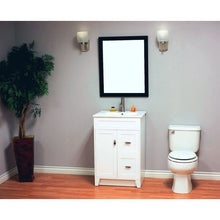 Load image into Gallery viewer, Bellaterra 24 In Single Sink Vanity Manufactured Wood White 9004-24-WH