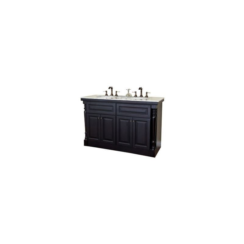 Bellaterra 55 In Double Sink Vanity Dark Mahogany