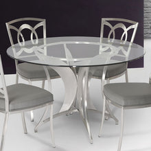 Load image into Gallery viewer, Drake Modern Dining Table In Stainless Steel With Clear Glass