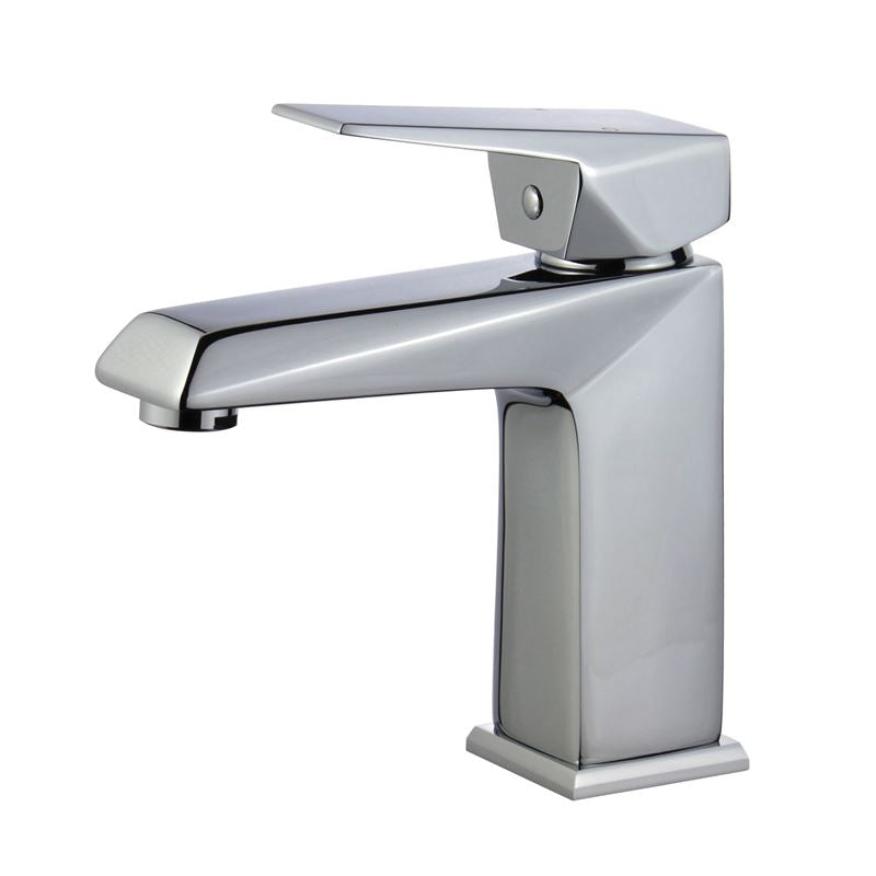 Valencia Single Handle Bathroom Vanity Faucet in Polished Chrome