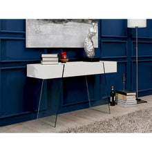 Load image into Gallery viewer, IL VETRO CABANA High Gloss White Lacquer Console Table by Casabianca Home