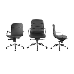 HORIZON Black Eco-leather Arm Office Chair by Casabianca Home