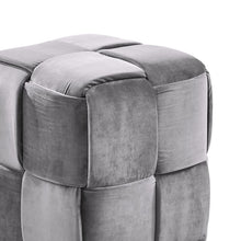 Load image into Gallery viewer, Joy Contemporary Short Ottoman in Gray Velvet
