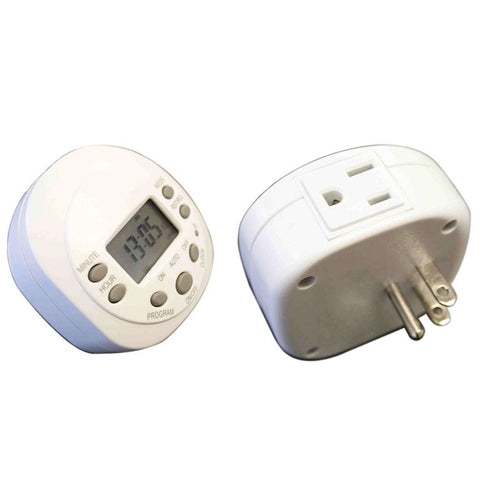Amba Programmable Plug-in Timer, White