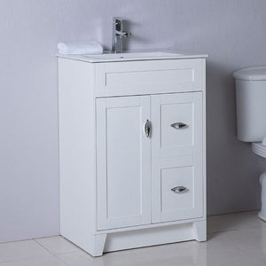 Bellaterra 24 In Single Sink Vanity Manufactured Wood White 9004-24-WH