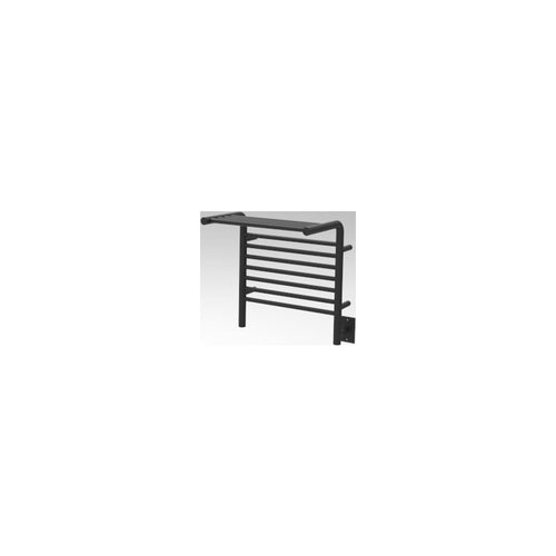 Amba M Shelf Straight 11 Bar Towel Warmer, Matte Black