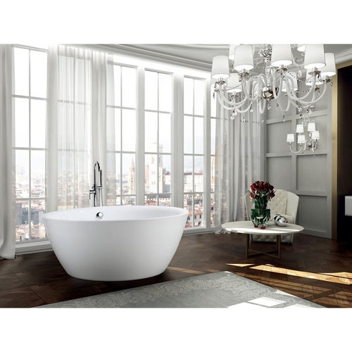Pescara 59 inch Freestanding Bathtub in Glossy White