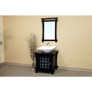 Bellaterra 30 In Single Sink Vanity Wood Black