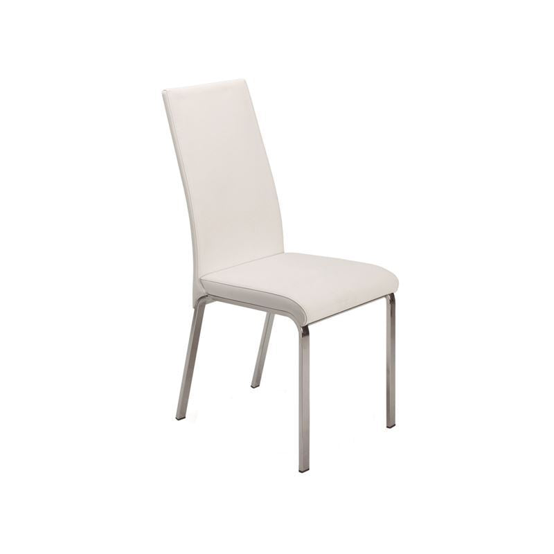 LOTO Italian White Leather Dining Chair by Talenti Casa