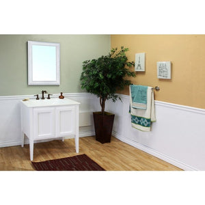 Bellaterra 33.5 In Single Sink Vanity Wood White