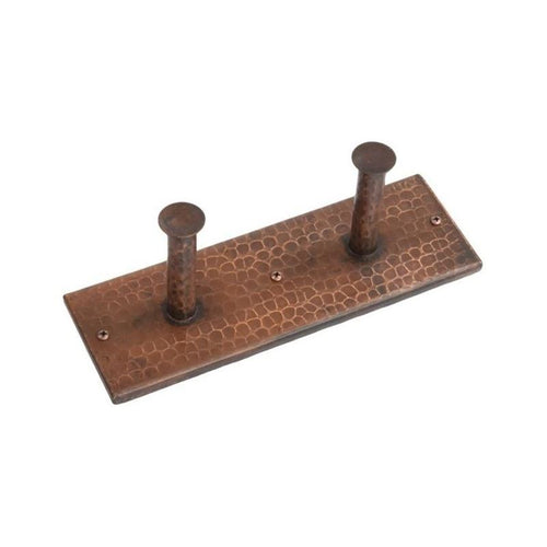 Hand Hammered Copper Double Robe/Towel Hook