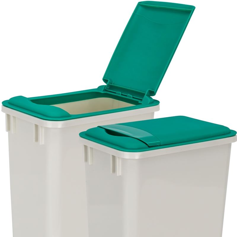 Green Lid for 35-Quart Plastic Waste Container