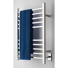 Load image into Gallery viewer, Amba Radiant Square Hardwired 10 Bar Towel Warmer, Polished
