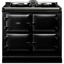 Load image into Gallery viewer, AGA Dual Control Cast Iron 3-Oven Electric Range BLACK