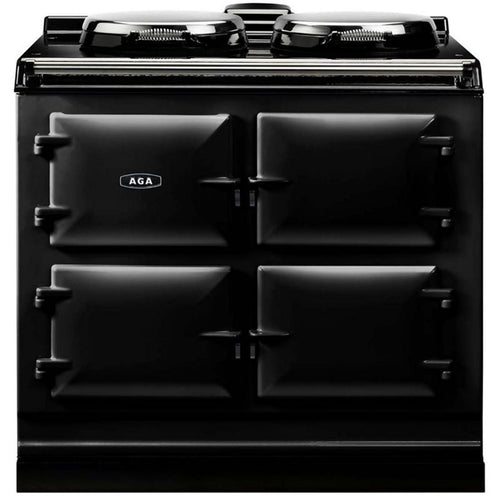 AGA Dual Control Cast Iron 3-Oven Electric Range BLACK