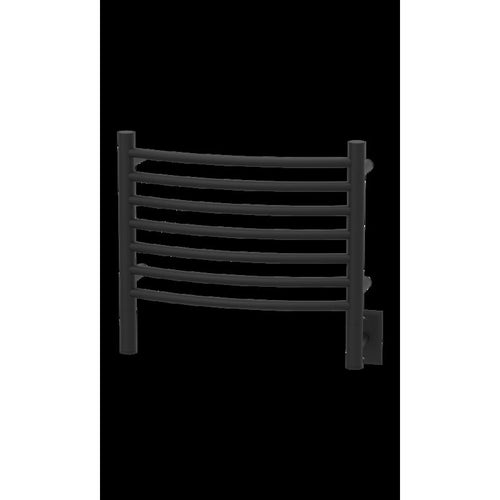 Amba H Curved 7 Bar Towel Warmer, Matte Black