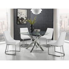Load image into Gallery viewer, GALAXY Chrome / Clear Glass Dining Table by Casabianca Home