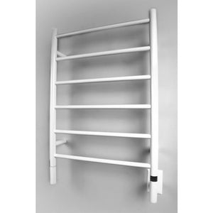 Amba J Straight 6 Bar Towel Warmer, White