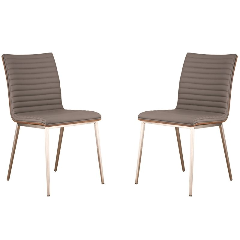 Armen Living Cafe Contemporary Dining Chair in Gray