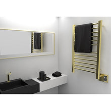 Load image into Gallery viewer, Amba SirioS-2133 12 Bar Towel Warmer, Satin Brass