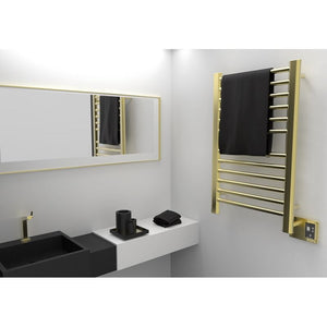 Amba SirioS-2133 12 Bar Towel Warmer, Satin Brass