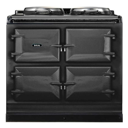 AGA Total Control Cast Iron 3-Oven Electric Range PEWTER