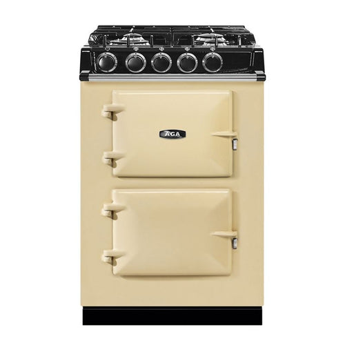 AGA City24 Dual Fuel Cast Iron Range with Gas Burners CREAM