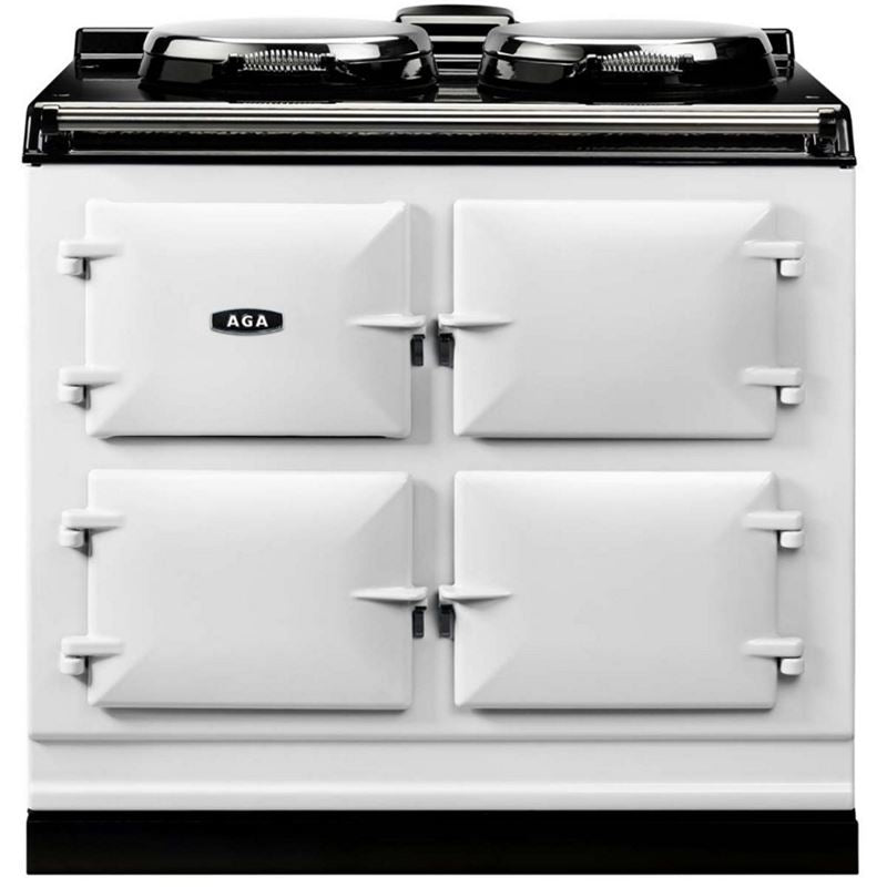 AGA Dual Control Cast Iron 3-Oven Electric Range WHITE