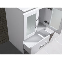 "Load image into Gallery viewer, Adornus Alva White 24"" Single Bathroom Vanity with mirror"