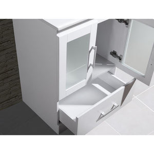 "Adornus Alva White 24"" Single Bathroom Vanity with mirror"