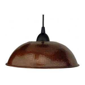 "Hand Hammered Copper 10.5"" Dome Pendant Light"