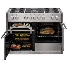"Load image into Gallery viewer, 48"" AGA Mercury Multiple Oven Dual Fuel Range Stainless Steel"