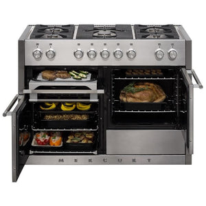"48"" AGA Mercury Multiple Oven Dual Fuel Range Stainless Steel"