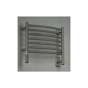 Amba H Curved 7 Bar Towel Warmer, Brushed