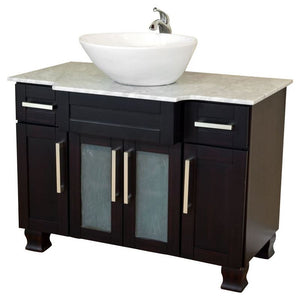 Bellaterra 40 In Single Sink Vanity Dark Mahogany 604023C