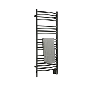 Amba D Curved 20 Bar Towel Warmer, Brushed