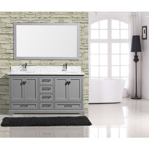 "Adornus Cambridge Grey 60"" Double Bathroom Vanity with mirror"