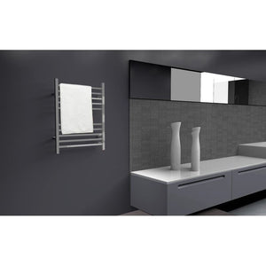 Amba Radiant Square Hardwired 10 Bar Towel Warmer, Brushed