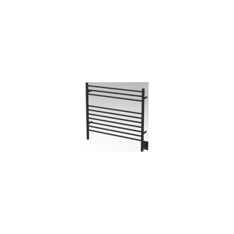 Amba K Straight 10 Bar Towel Warmer, Matte Black