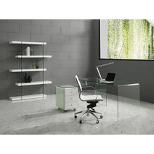 Load image into Gallery viewer, RIO High Gloss White Lacquer w Glass Office Desk by Casabianca Home