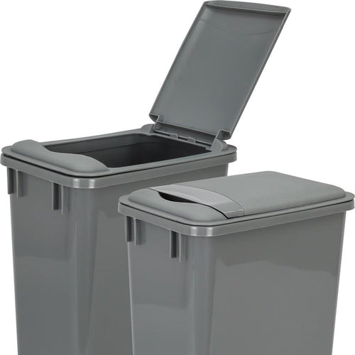 Gray Lid for 35-Quart Plastic Waste Container