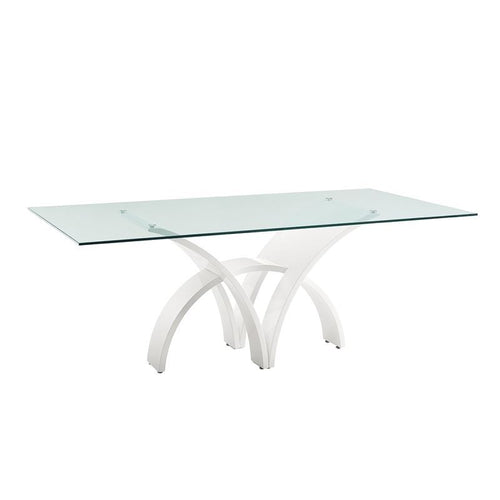 MANHATTAN High Gloss White Lacquer Dining Table by Casabianca Home