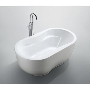 Brescia 65 inch Freestanding Bathtub in Glossy White