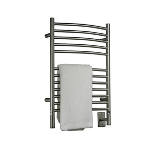 Amba E Curved 12 Bar Towel Warmer, Brushed