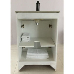 Bellaterra 24 In Single Sink Vanity Manufactured Wood White 9003-24-WH